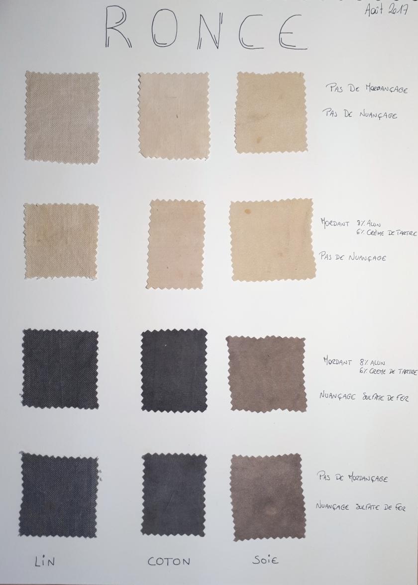 teinture végétale; teinture naturelle; teinture grise; teinture ronce; teinture tanins; nuancage sulfate de fer